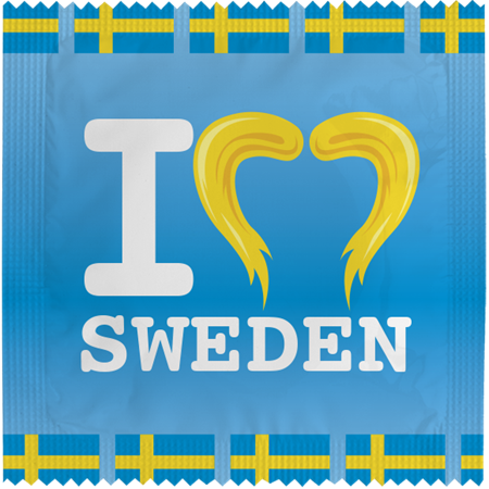 CONDOM I LOVE SWEDEN BLUE (5)