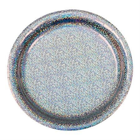 PAPER PLATE HOLOGRAPHIC SILVER 8-P (6)