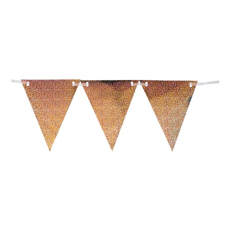 TRIANGLE FLAG BANNER HOLOGRAPHIC ROSE GOLD (6)