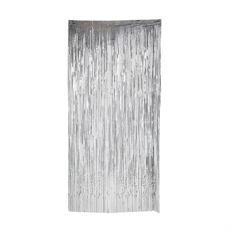 DOOR CURTAIN HOLOGRAPHIC SILVER 92 x 240 CM (6)