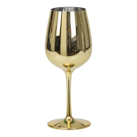 WINE GLASS GOLD