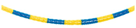 PAPER SWIRL GARLAND BLUE/YELLOW 6M (6)