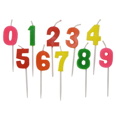 TOOTHPICK CANDLES NUMBERS 0-9 (6)
