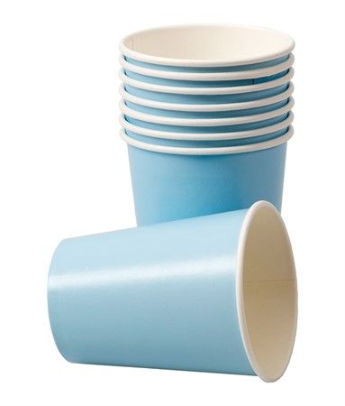 PAPER CUPS LIGHT BLUE 8-P (6)