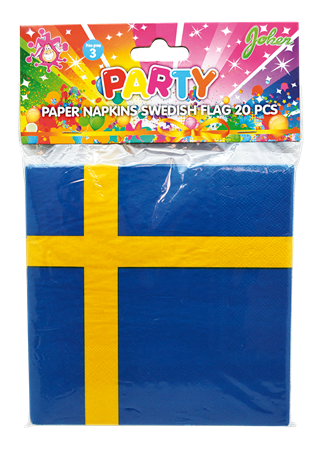 PAPER NAPKINS SWEDISH FLAG 20-P (3)