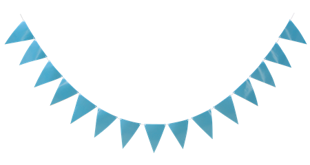 TRIANGLE FLAG BANNER LIGHT BLUE 3.6 M (6)