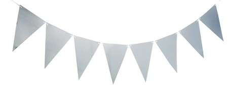 TRIANGLE FLAG BANNER SILVER 3.6 M (6)