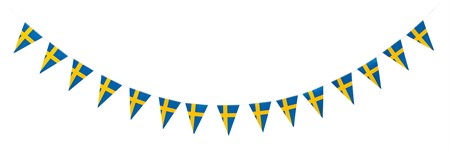 TRIANGLE FLAG BANNER SWEDISH FLAG 3.6 M (6)