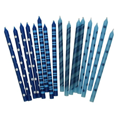 BIRTHDAY CANDLES MIXED BLUE 16-P (6)