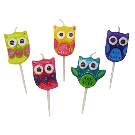 TOOTHPICK CANDLES OWL (3)