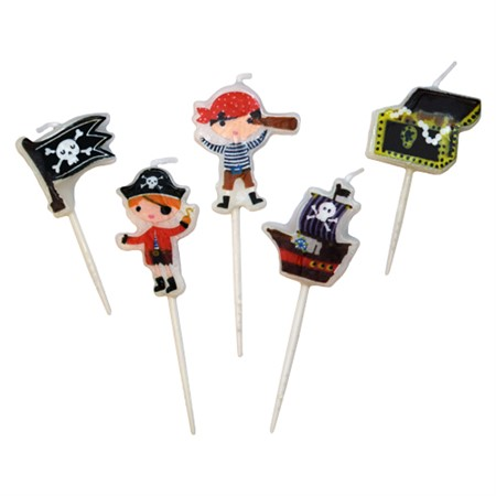 TOOTHPICK CANDLES SMALL PIRATES (6)
