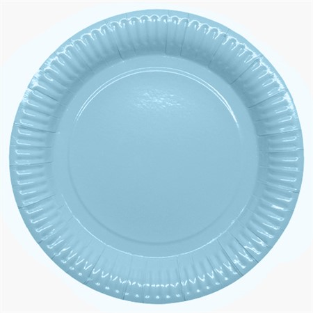 PARTY PAPER PLATE 23,5 CM LIGHT BLUE 8-P (6)