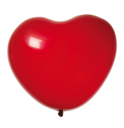 "BALLOONS 15"" HEART RED 8-P (6)"