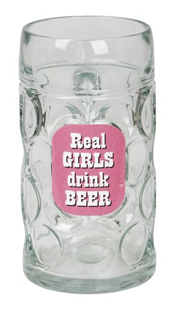 "SLAKTARSEJDEL ""REAL GIRLS DRINK BEER"" (6)"