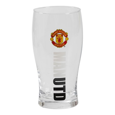 PINT GLASS MANCHESTER UNITED
