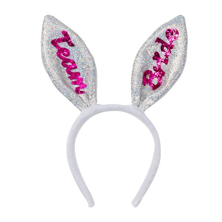 HEADBAND BUNNY TEAM BRIDE SILVER (6)