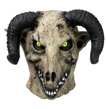 LATEX MASK GOAT DEVIL