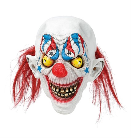 LATEX MASK CLOWN W. TEETH