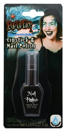 BLACK LIPSTICK & NAIL POLISH (6)