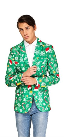 BLAZER CHRISTMAS GREEN S