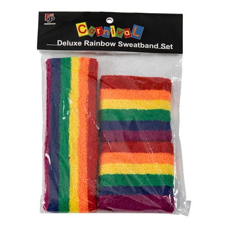 SWEATBAND SET RAINBOW