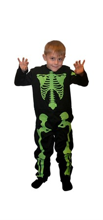 COSTUME GID SKELETON KID 110-116