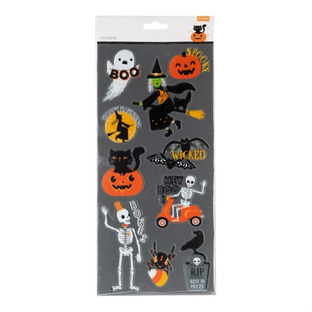 HALLOWEEN STICKERS 2 SHEETS (6)