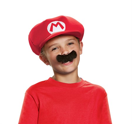 MARIO CHILD HAT AND MUSTASCH